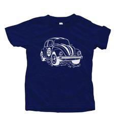Kids Herbie T shirt Hand Screen Printed American Apparel Short Sleeve Crew Neck $18