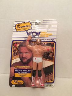 WCW Twistables Arn Anderson Wrestling Figure Bendable Just Toys NIP 1990