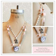 2 Strand necklace  By: Carolyn Peeler