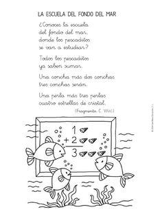 Menta Más Chocolate - RECURSOS PARA EDUCACIÓN INFANTIL: Poesías y Adivinanzas de PECES