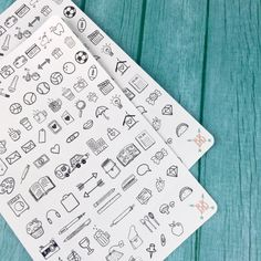 Mini Planner Icon Stickers  by BohoBerryPaperie on Etsy https://www.etsy.com/listing/292051145/mini-planner-icon-stickers