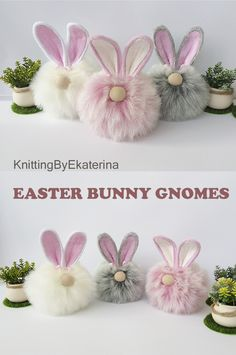 Easter decorations and Easter basket ideas! So cute for your Easter basket gift! Bunny Crafts, Easter Crafts, Holiday Fun, Holiday Crafts, Pom Pom Crafts, Easter Projects, Diy Easter Decorations, Hoppy Easter, Cute Easter Bunny