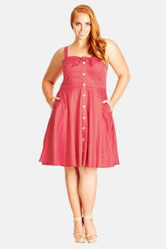 'Miss Sweet' Fit & Flare Dress by City Chic on @nordstrom_rack