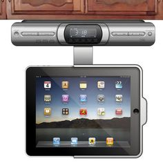 The Under Cabinet IPad Dock   Hammacher Schlemmer.would Be Cool For A  Kitchen!