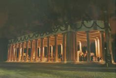 City Park Peristyle is a magnificent Neo-Classical structure with majestic Ionic columns & is one of City Park's oldest structures. Built in 1907, the Peristyle was originally designed as a dancing pavilion. Four concrete lions, some of the most recognizable denizens of City Park, guard the Peristyle where stairs lead down to the edge of Bayou Metairie. Ducks, geese, swans swim merrily by during the day & the Peristyle is dramatically reflected into the Bayou by night.