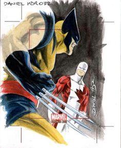 Sketch card : Wolverine vs Guardian by Daniel HDR