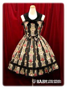 Absolute dreamdress AatP - Queen's coach JSK II in black $335.00 #lolita #AatP #OP