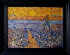 Seminatore al tramonto di Vincent Van Gogh