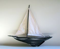 vintage sailboat pond yacht.