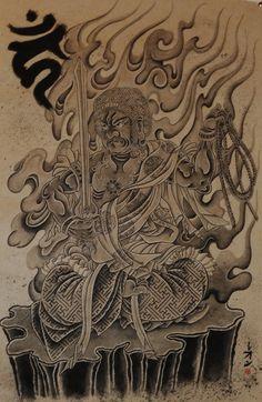 Fudo Myō-ō - Cerca con Google Japanese Tattoo Art, Japanese Art, Irezumi, Deities, Buddhism, Lightning, Tatoos, Tattoo Designs, Religion