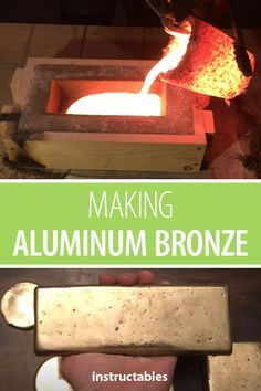 Metal Projects, Welding Projects, Metal Crafts, Diy Projects, Copper Casting, Casting Aluminum, Diy Forge, Aluminum Molding, Melting Metal