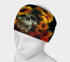 """Headband+""""Skull+and+Flowers+Headband""""+by+Scott+Hervieux+Photography,+Art,+and+More"""