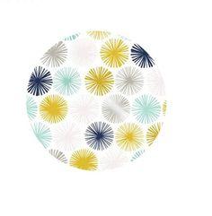 petit miroir de poche rond 56mm  étoiles bleues et jaunes ne s'ouvre pas, simple recto verso l'accessoire indispensable à mettre dans le sac, pour un prix mini pour se faire  - 17269702
