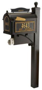 Northgate Curbside Mailbox - traditional - Mailboxes - Ballard Design $549