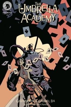 "project-ragna-rok: ""Umbrella Academy: Hotel Oblivion New York Comic-Con exclusive variant cover by Mike Mignola with Gabriel Ba colours! "" Anyone else watching Umbrella Academy on Netflix? Three episodes in and it's pretty good so far! Marvel Girls, Marvel E Dc, Mike Mignola Art, Star Wars Clone Wars, Star Wars Art, Star Trek, Dark Horse Comics, Ligne Claire, Paranormal"