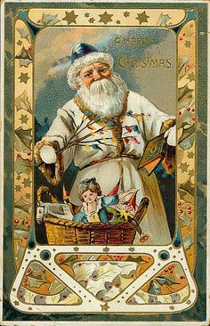 https://flic.kr/p/7iypSK | Vintage Santa Christmas Postcard | Free to use in your Art only, not to Sale on a Collage Sheet or a CD