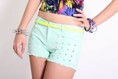 Studded Colored Shorts