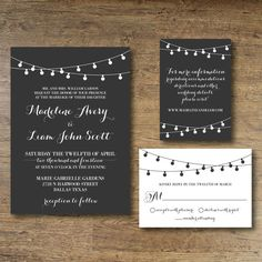 Printable Wedding Invitation  Midnight Promise by OhDarlingPaper, $35.00