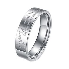 """Geminis Fashion Jewelry """"Two Shall Be As One. Always Protects. Always Trust. Always Love"""" Stainless Steel Promise Couple Ring----Men's Ring;Size 9. The listing price is for one ring only, please buy two rings for one pair. The men's rings and the lady's rings are listed separately with each available ring sizes in the style options. Material:Stainless Steel. Specification:Width:0.19''(5mm) for him,0.11''(3mm) for her;Weight:4G for him,2G for her. More Details: as the pictures show. OPP…"""