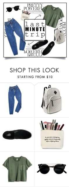 """""""Last Minute Trip"""" by aggpap3 ❤ liked on Polyvore featuring PèPè, Steve Madden, Vans, outfit, quick, QuickAndEasy and lastminutetrip"""