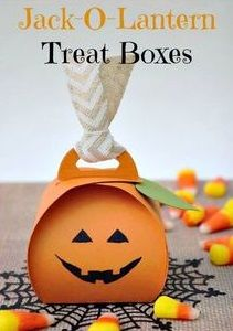 Halloween Pumpkin Treat Boxes Pillow Shaped Candy Boxes