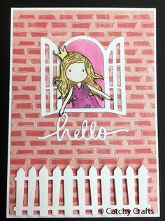 Gorjuss girls card by Peta