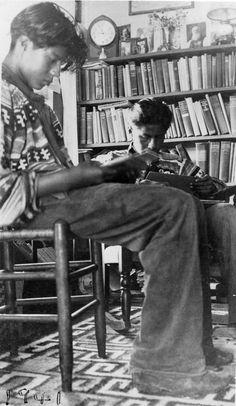 Miccosukee boys reading, 1941