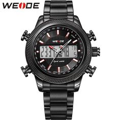 91fa7b389b3 Price tracker and history of WEIDE Mens Watches Top Luxury Brand Analog  Digital Display High Quality Stainless Steel Waterproof Running relogio Tag  Hour
