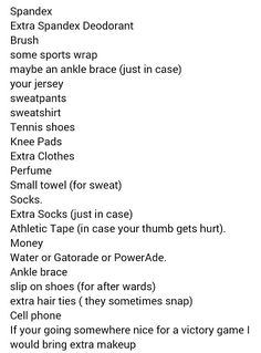 What to pack in your volleyball bag