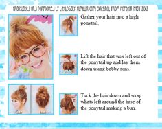 Bun tutorial for short hair from the May 2012 issue of Popteen. ]]>