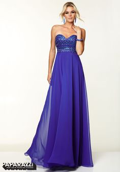Prom Dresses / Gowns Style 97064: Chiffon with Beading Available at Brandi's Bridal Galleria, Etc. Visit www.brandisbridal.com for more info!