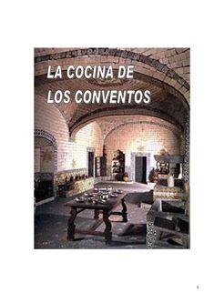 La cocina de los conventos  Recetas de cocina