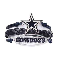 Ashley Bridget Dallas Cowboys Home Bracelet ($12) ❤ liked on Polyvore featuring jewelry, bracelets, imitation jewelry, artificial jewellery, fake jewelry and imitation jewellery