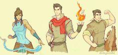Korra, Mako and Bolin