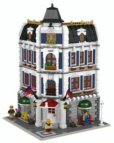 Lego Brownstone Terrace 1 Instructions Modular Custom Building Design City Town