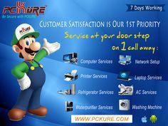 PC-Laptop-AC-CCTV-Printer And Electronics Appliances, Repair & Service @ ur Door Step  www.pckure.com