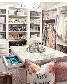 Dressing Room Inspiration We would like to thank you if you like this post . - Dressing Room Inspiration We would like to thank you if you would like to share this article with o - Glam Closet, Luxury Closet, Closet Vanity, Shoe Closet, Closet Small, Vanity Room, Master Closet, Closet Bedroom, Bedroom Decor
