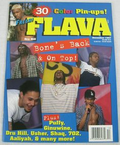 Flava Hip Hop Music Magazine December 1997 Aaliyah Tupac Bone Thugs Faith Evans
