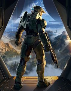 """I worked on the Master Chief model that was featured in the 2019 Halo Infinite trailer """"Discover Hope"""". I was responsible for:  - Concepting Master Chief in collaboration with, and under the direction of Nicolas 'Sparth' Bouvier - Modeling (hipoly, Halo Master Chief, Master Chief Armor, Master Chief And Cortana, Halo 3, Halo Game, Halo Reach, Daft Punk, Unsc Halo, Game Art"""