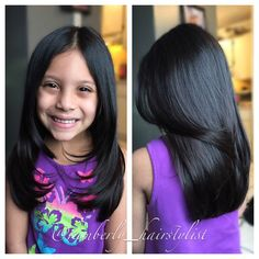 Medium length hair cut for little girls