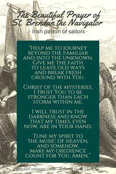 The Beautiful Prayer of St. Brendan the Navigator, Irish Patron of Sailors | Get Fed | A Catholic Blog to Feed Your Faith