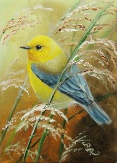 """Quotation:  """"Be as a bird perched on a frail branch that she feels bending beneath her, still she sings away all the same, knowing she has wings."""" ~ Victor Hugo.  Painting by Paulie Rollins"""