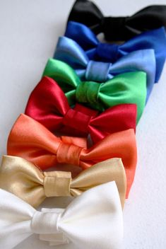Dog Cat Pet Bow Tie Bowtie Satin Wedding Formal Black Red Green Blue Gold by dusidog on Etsy
