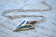 Singer Style Sterling and Turquoise Arrow by TrufflePigVintage, $38.00