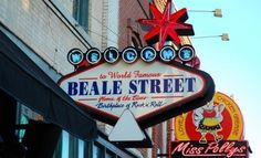 Beale Street, Memphis...home of the blues and bar-b-cue