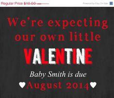 Printable Valentine's Day pregnancy announcement!