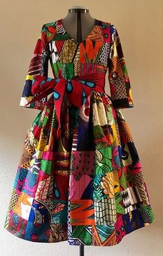 Make a Scene! Reversible African Wax Print Coat Dress Patchwork and Your Choice of Reverse Print African Dresses For Women, African Print Dresses, African Wear, African Women, African Prints, African Outfits, African Style, Ghanaian Fashion, Nigerian Fashion