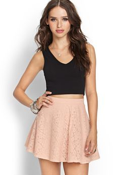 Lace A-Line Skirt | FOREVER21 - 2000063082
