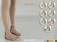 Pointy flat shoes with ankle strap! Come in 8 colours (patent leather). Joints are perfectly assigned. All LODs are replaced with new ones.  Found in TSR Category 'Sims 4 Shoes Female'
