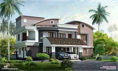yards bedroom modern villa designed green homes thiruvalla kerala square feet bedroom contemporary kerala villa design